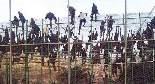 Une dure journée pour les  autorités espagnoles à Mellilia