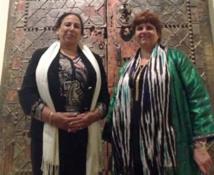 Les deux commissaires générales de l'exposition  Bahija Simou et Yannick Lintz.