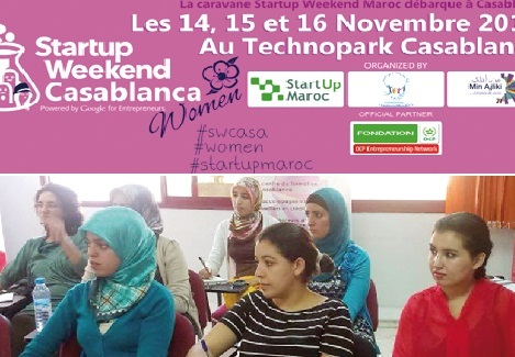 La femme à l'honneur au Start-up Week-end Casablanca
