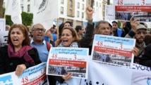 Manifestation contre l'escalade des entraves aux droits de l'Homme