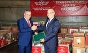 Remise des dons Royaux destinés à la Sierra Leone et au Liberia