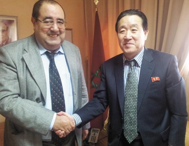 Driss Lachguar reçoit  l'ambassadeur de Corée du Nord