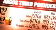 Les chaînes de restaurants  américains vont devoir indiquer les calories sur les menus