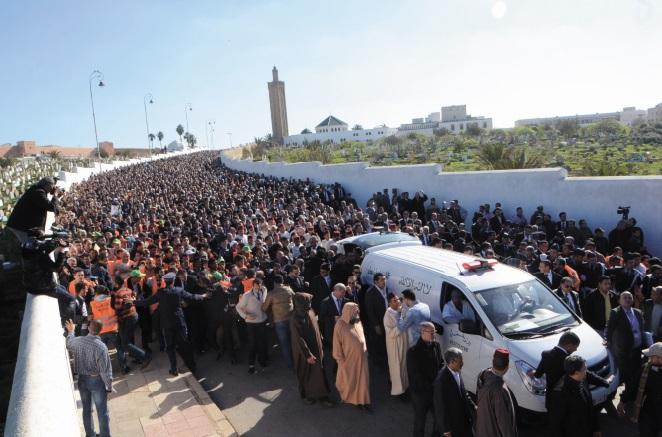 S.A.R le Prince Moulay Rachid préside les obsèques d'Abdallah Baha