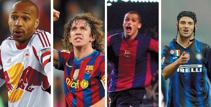 Henry, Puyol, Rivaldo, Chivu: rideau!
