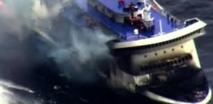 Au moins cinq morts dans l'incendie du ferry Norman Atlantic