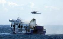 Dix morts et incertitudes sur d'éventuels disparus dans le Ferry incendié