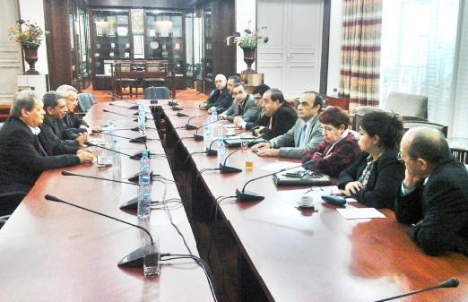 Driss Lachguar s'entretient avec une délégation palestinienne