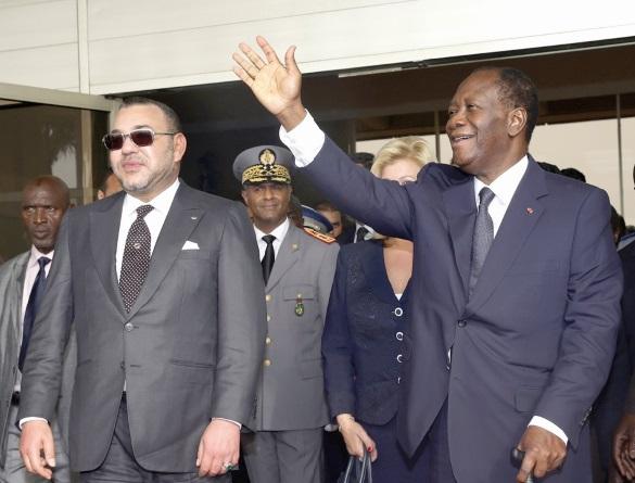 Alassane Ouattara au Maroc