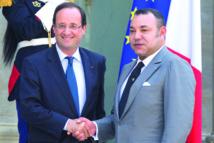 Entretien entre  S.M Mohammed VI et François Hollande