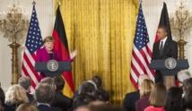 Angela  Merkel défend un plan de paix franco-allemand  à Washington