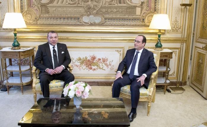 S.M Mohammed VI reçu à l'Elysée