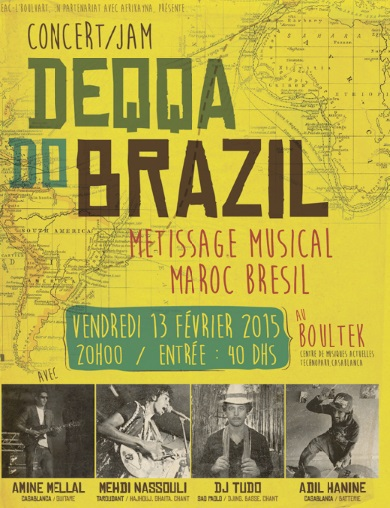Un concert fusionnant des rythmes traditionnels du  Maroc et du Brésil