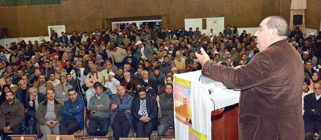 Driss Lachguar : Les Ittihadis de Tiznit déterminés à respecter  la représentativité  des femmes et des jeunes lors des opérations électorales
