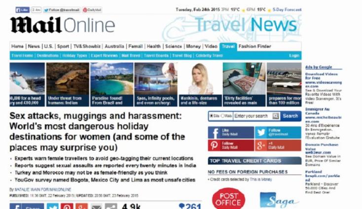 Le Daily Mail classe le Maroc parmi les destinations dangereuses pour les femmes touristes