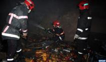 Incendie dans  le dépôt d'une  société à Casablanca