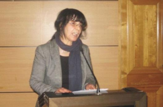 Khadouj Slassi secrétaire  générale de l'Organiation  socialiste des femmes ittihadies