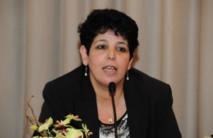 Najat Razi, ex-présidente de l'Association marocaine pour les droits des femmes  et membre du Collectif Printemps de la dignité