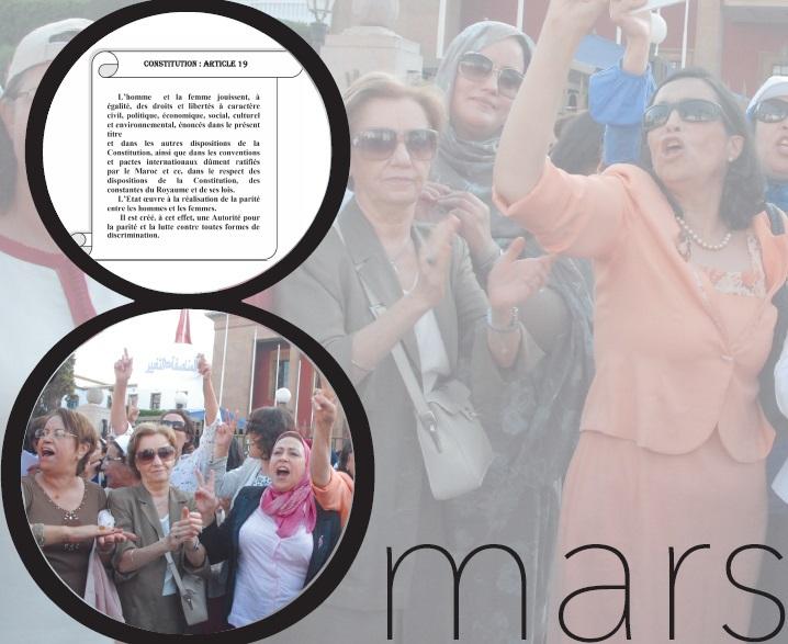 Main dans la main pour défendre l'égalité et la démocratie : Participons massivement à la marche de la Femme