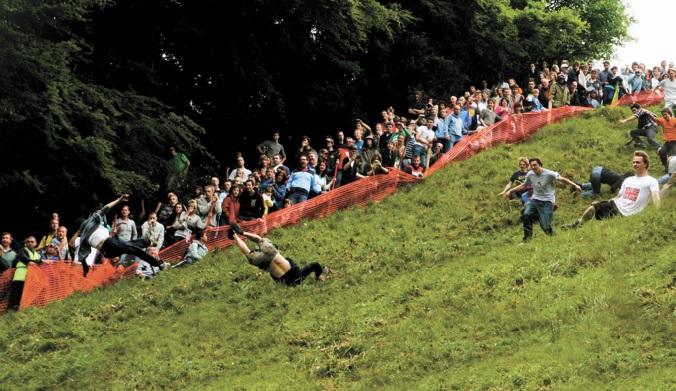 Les festivals à voir une fois dans sa vie : Festival cooper's hill cheese-rolling (Grande-Bretagne)