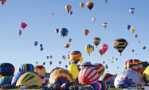 Les festivals à voir une fois dans sa vie : Festival international de Montgolfières d'Albuquerque, (Etats-Unis)