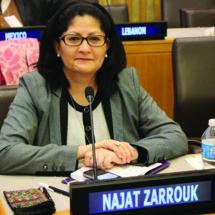 Najat Zarrouk, élue vice-présidente du comité des experts de  l'administration publique de l'ONU