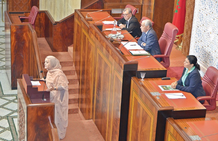 ​Hasna Abouzaid tacle Ramid au Parlement