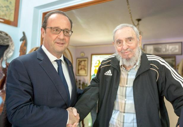 François Hollande a rencontré Fidel Castro lors d'une visite historique