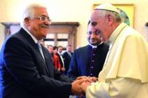 Mahmoud Abbas reçu  au Vatican par le pape François
