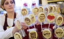 En Russie, on peint avec du chocolat