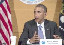 Ouragans en toile de fond Obama appelle à l'action  en faveur  du climat
