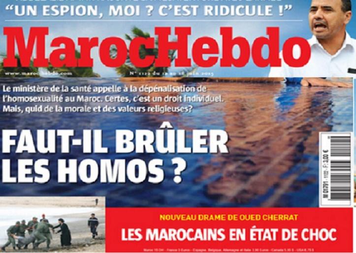 "Le titre choc de ""Maroc Hebdo"""
