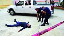 La police mexicaine s'entraîne dans un décor hollywoodien