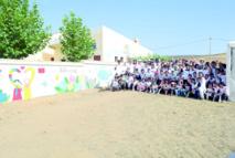 Des volontaires coréens égaient  des élèves du village de Ben Smime