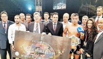 Sittichai s'adjuge le Grand Prix S.M le Roi Mohammed VI de kick-boxing