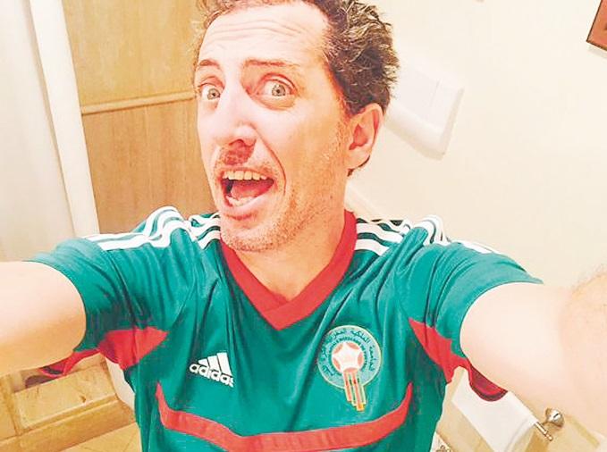 Gad Elmaleh, fervent supporter des Lions de l'Atlas
