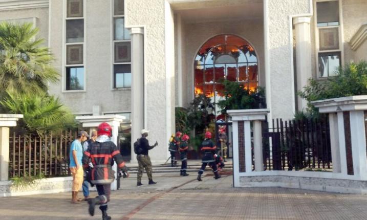 Incendie au siège du Groupe Addoha à Casablanca
