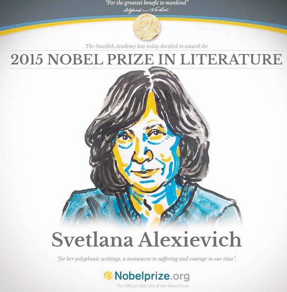La Biélorusse Svetlana Alexievitch, Prix Nobel de littérature