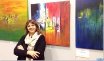 Hayat Saidi expose ses œuvres à la Biennale des arts contemporains de Florence