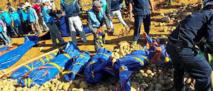 90 morts dans un glissement  de terrain en Birmanie