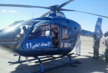 Evacuation par hélicoptère  médicalisé d'une femme enceinte