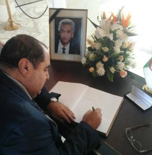 Décès de Houcine Aït Ahmed : Driss Lachguar à l'ambassade d'Algérie