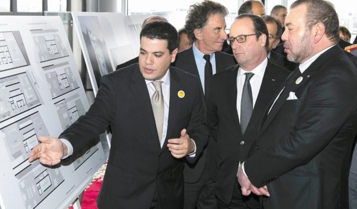 Le projet du Centre culturel marocain à Paris présenté  à S.M le Roi et au Président François Hollande.