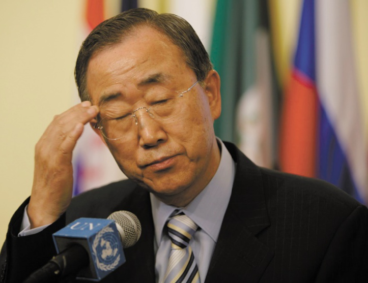 Ban Ki-moon part dans de vaines tentatives de disculpation