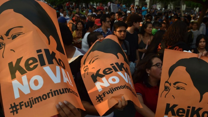 Manifestation au Pérou contre Keiko Fujimori