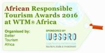 """Le ministère du Tourisme primé à  """"L'African Responsible Tourism Awards"""""""