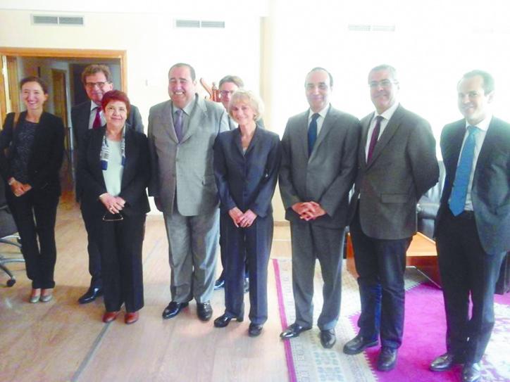 Volonté commune de consolider la coopération entre l'USFP et le PS français pour la rendre pérenne