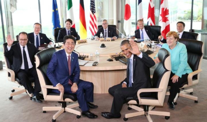 Le G7 s'ouvre sur l'économie mondiale, terrorisme et migrations à Ise-Shima au Japon