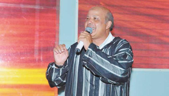 L'artsite Jamaldine  Benhadou a animé  la soirée inaugurale avec brio