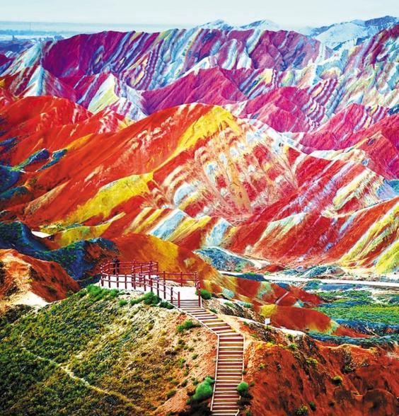 Les destinations les plus spectaculaires du monde : Parc géologique national de Zhangye Danxia - Chine